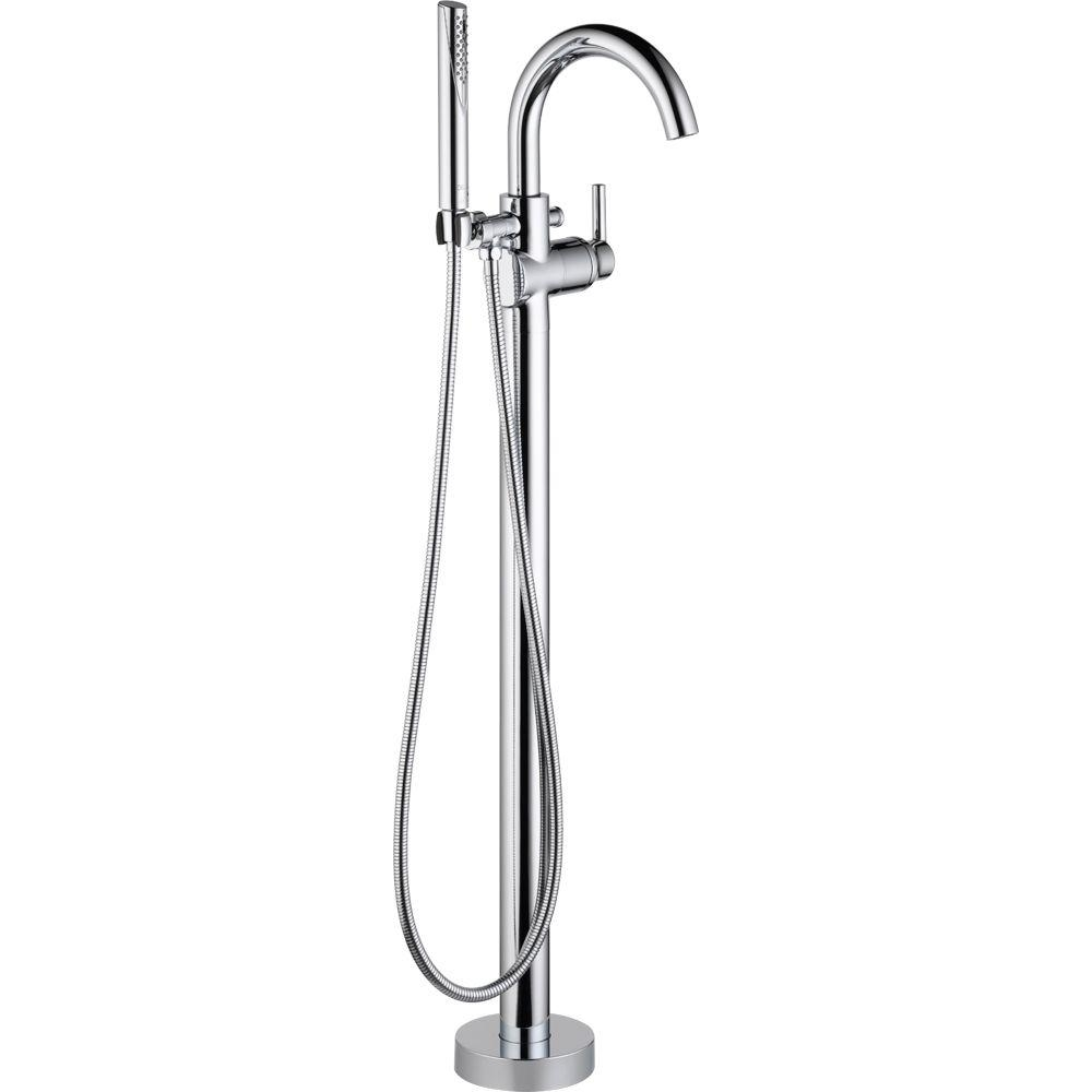 Ideas, delta trinsic 1 handle floor mount roman tub faucet trim kit with in sizing 1000 x 1000  .