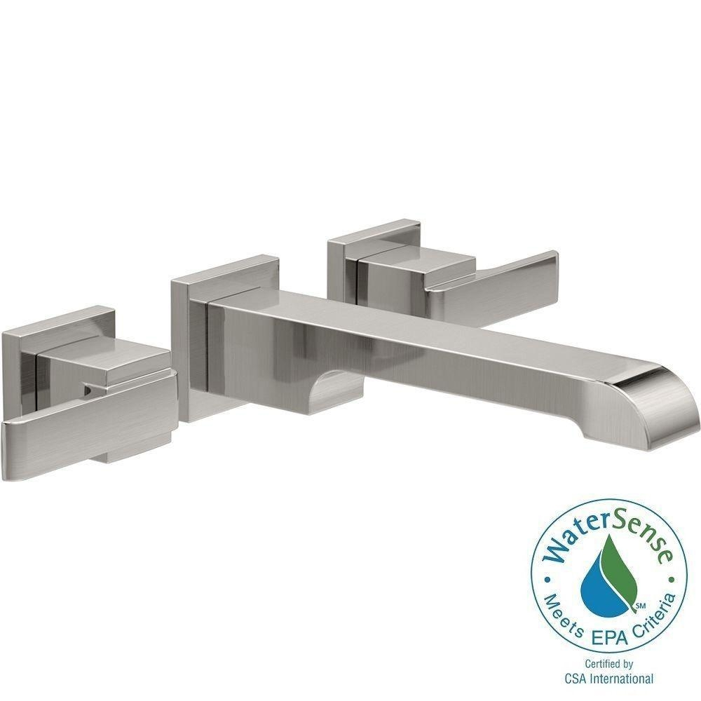 Ideas, delta trinsic 1 handle wall mount bathroom faucet trim kit in with regard to dimensions 1000 x 1000  .