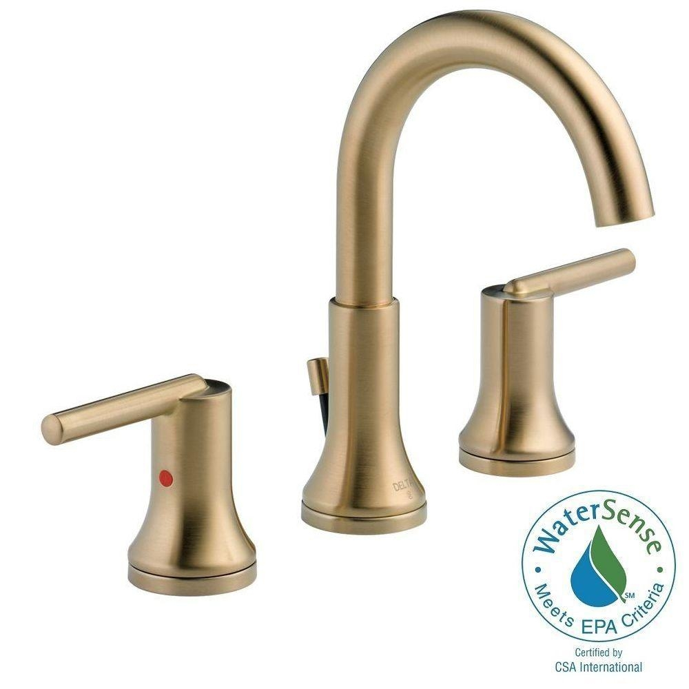 Ideas, delta trinsic 8 in widespread 2 handle bathroom faucet with metal within sizing 1000 x 1000  .