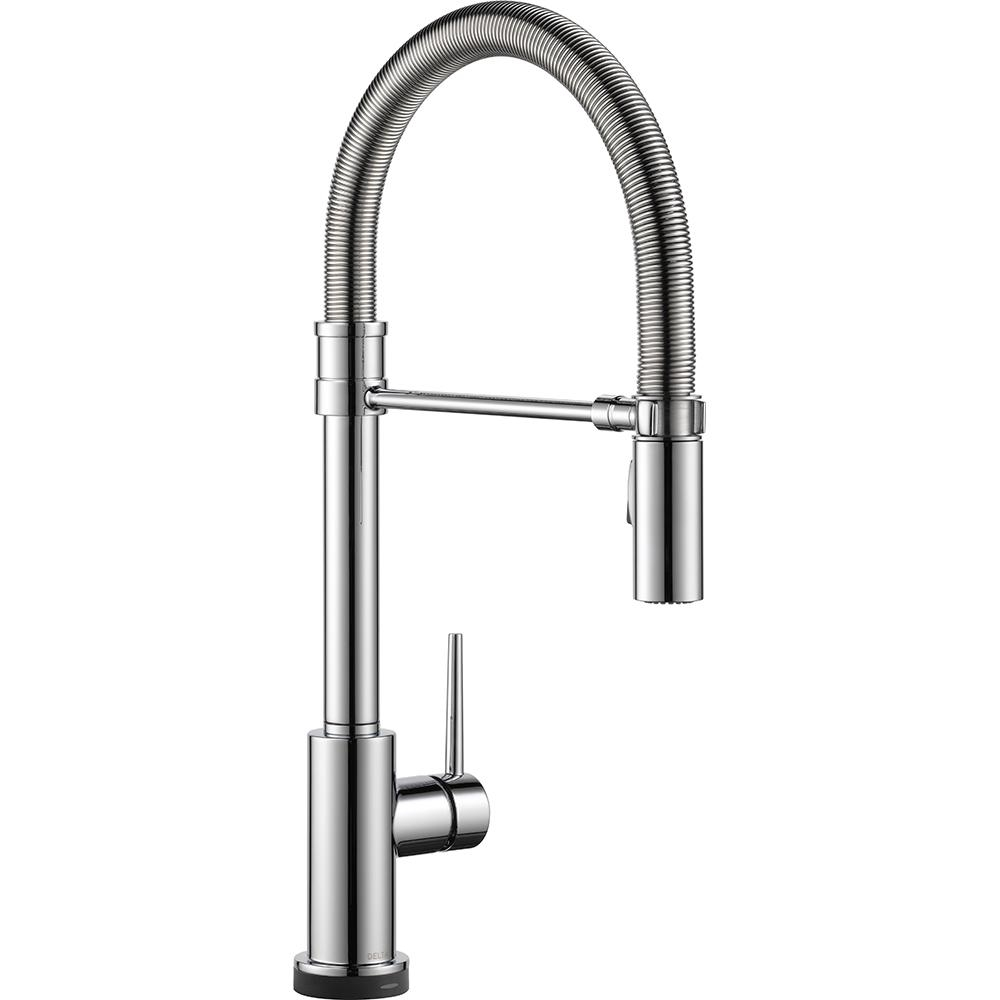 delta trinsic pro single handle pull down sprayer kitchen faucet throughout proportions 1000 x 1000