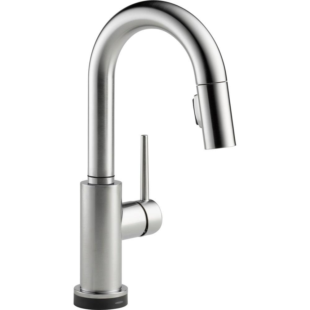 Ideas, delta trinsic single handle pull down sprayer bar faucet featuring intended for dimensions 1000 x 1000  .