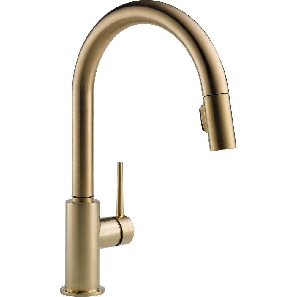 Ideas, delta trinsic single handle pull down sprayer kitchen faucet in in sizing 1000 x 1000  .