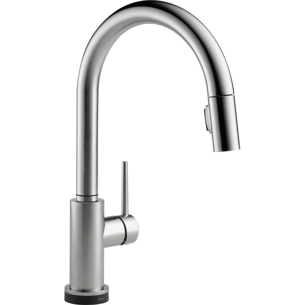 Ideas, delta trinsic single handle pull down sprayer kitchen faucet pertaining to sizing 1000 x 1000  .