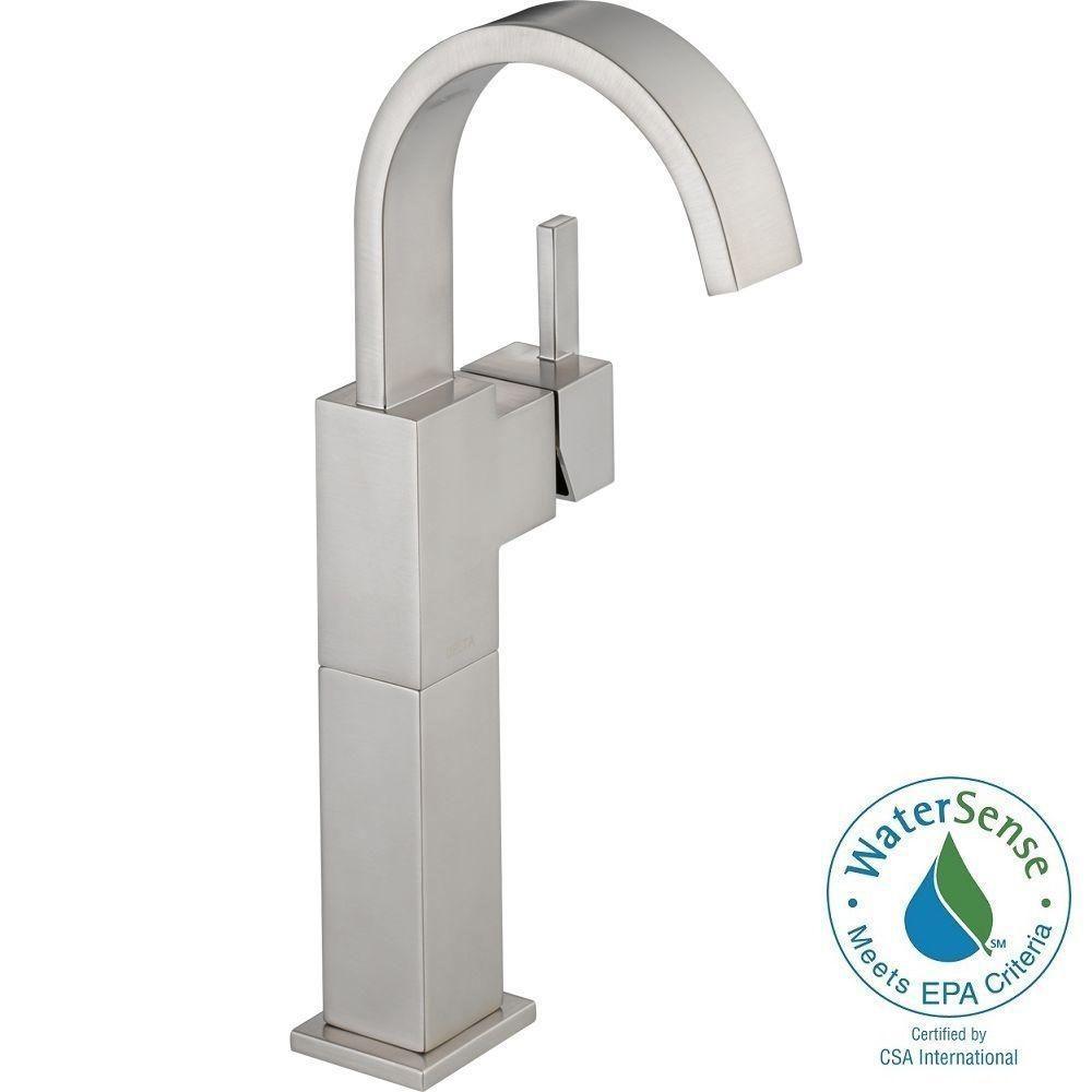 delta vero single hole single handle vessel bathroom faucet in regarding sizing 1000 x 1000