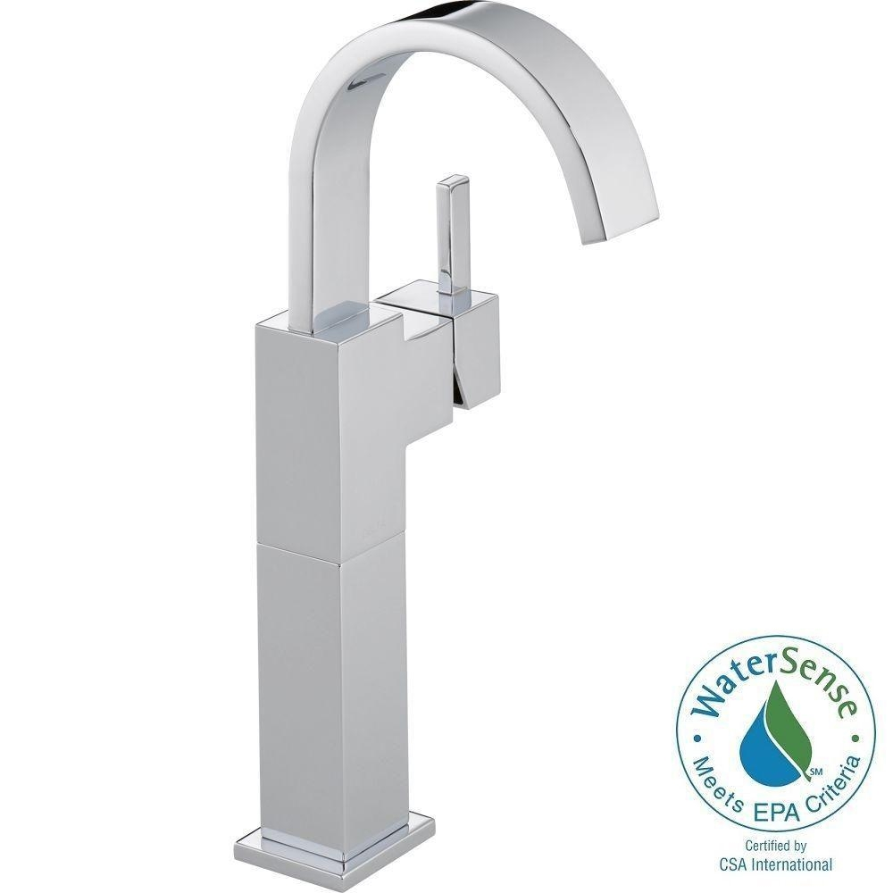 Ideas, delta vessel bowl faucets delta vessel bowl faucets delta vero single hole single handle vessel bathroom faucet in 1000 x 1000  .