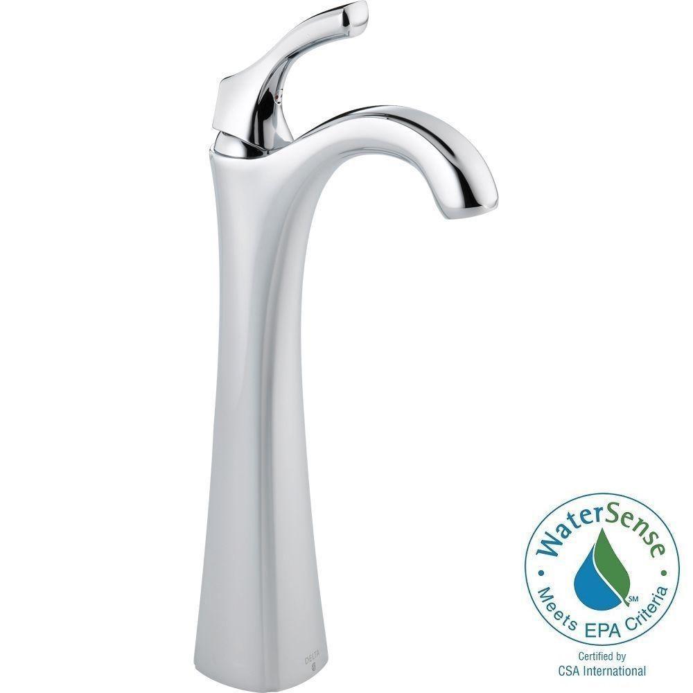 Ideas, delta vessel faucet chrome delta vessel faucet chrome delta tesla single hole single handle vessel bathroom faucet in 1000 x 1000  .