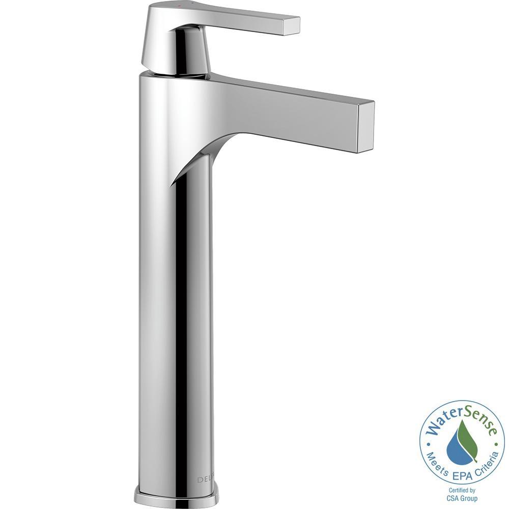 Ideas, delta vessel faucet chrome delta vessel faucet chrome delta zura single hole single handle vessel bathroom faucet in 1000 x 1000  .