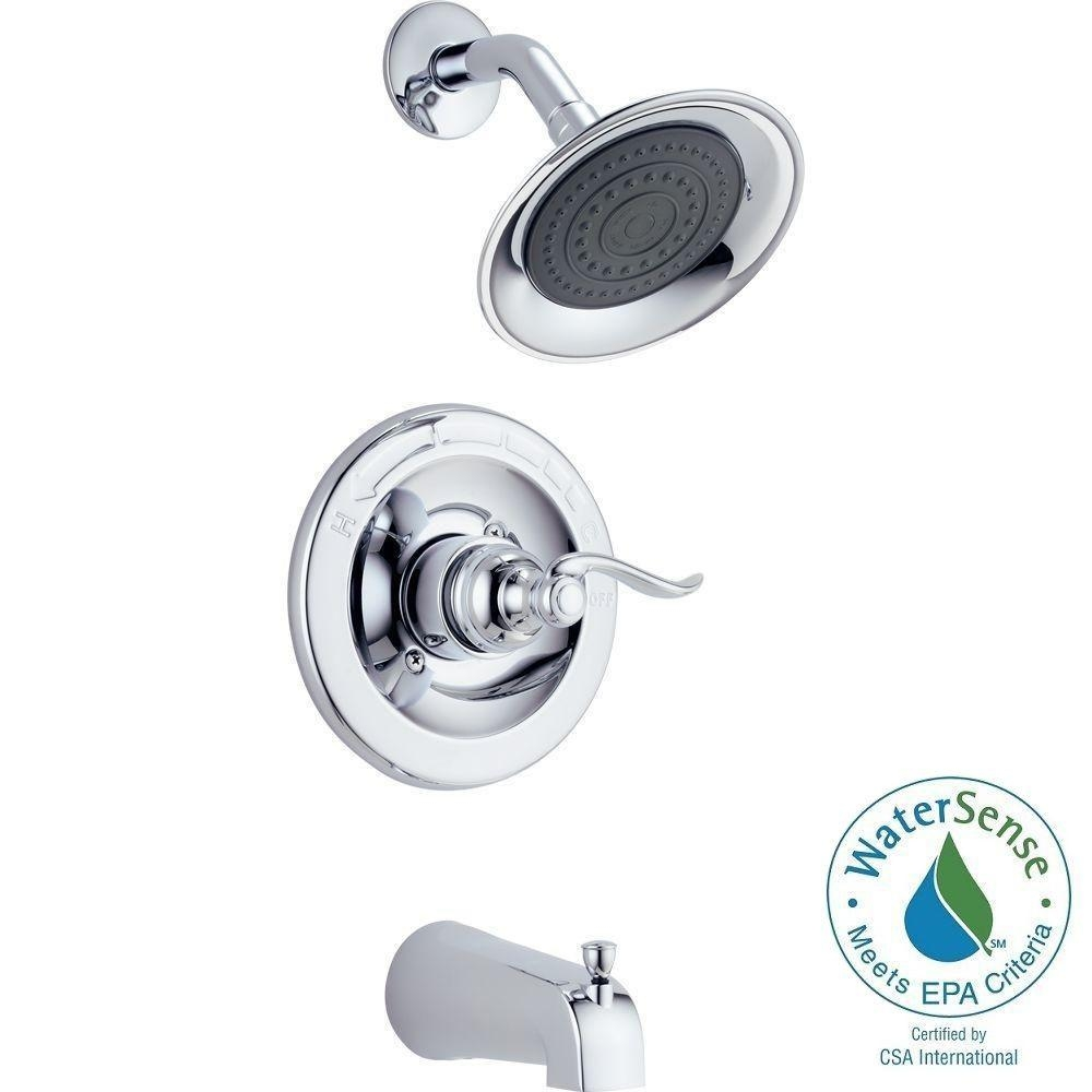 Ideas, delta windemere single handle 1 spray tub and shower faucet in in dimensions 1000 x 1000  .