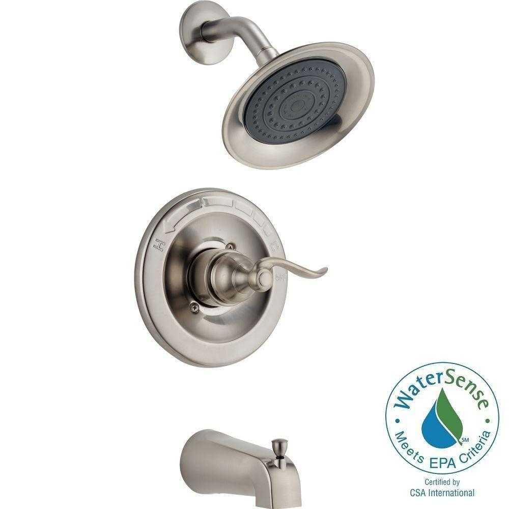 Ideas, delta windemere single handle 1 spray tub and shower faucet in regarding proportions 1000 x 1000  .