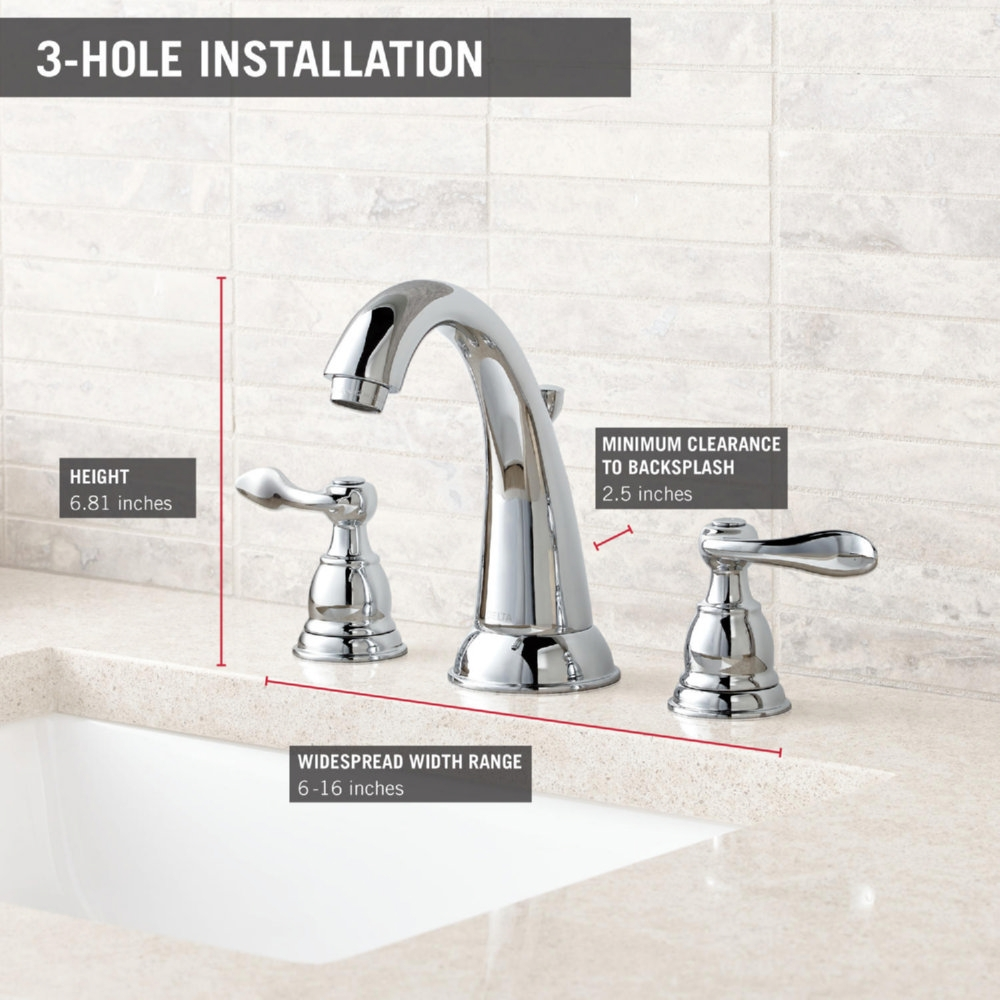 Ideas, delta windemere widespread bathroom faucet with double lever handles delta windemere widespread bathroom faucet with double lever handles delta faucet b3596lf ss windemere brilliance stainless two han  .