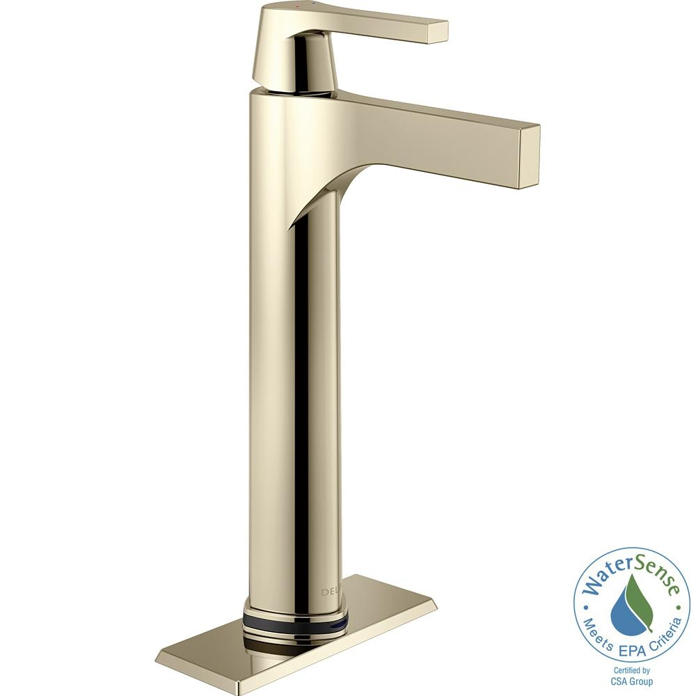 Ideas, delta zura single hole single handle vessel bathroom faucet with for proportions 1000 x 1000  .