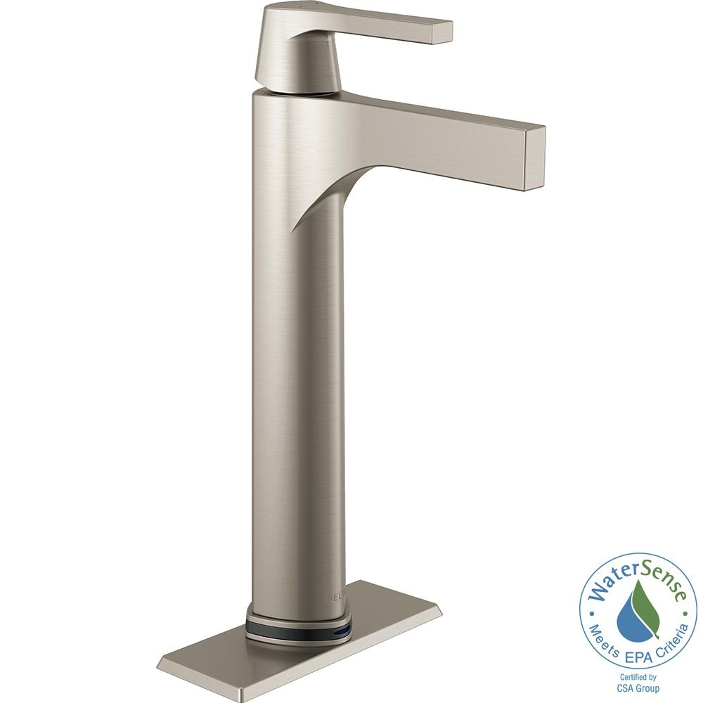 Ideas, delta zura single hole single handle vessel bathroom faucet with pertaining to dimensions 1000 x 1000  .
