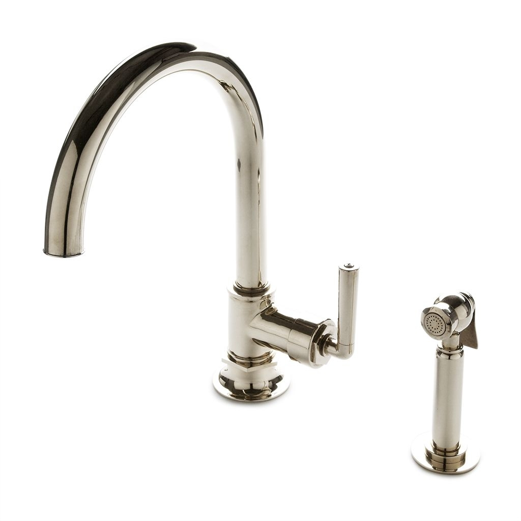 discover henry one hole gooseneck kitchen faucet metal lever throughout measurements 1024 x 1024