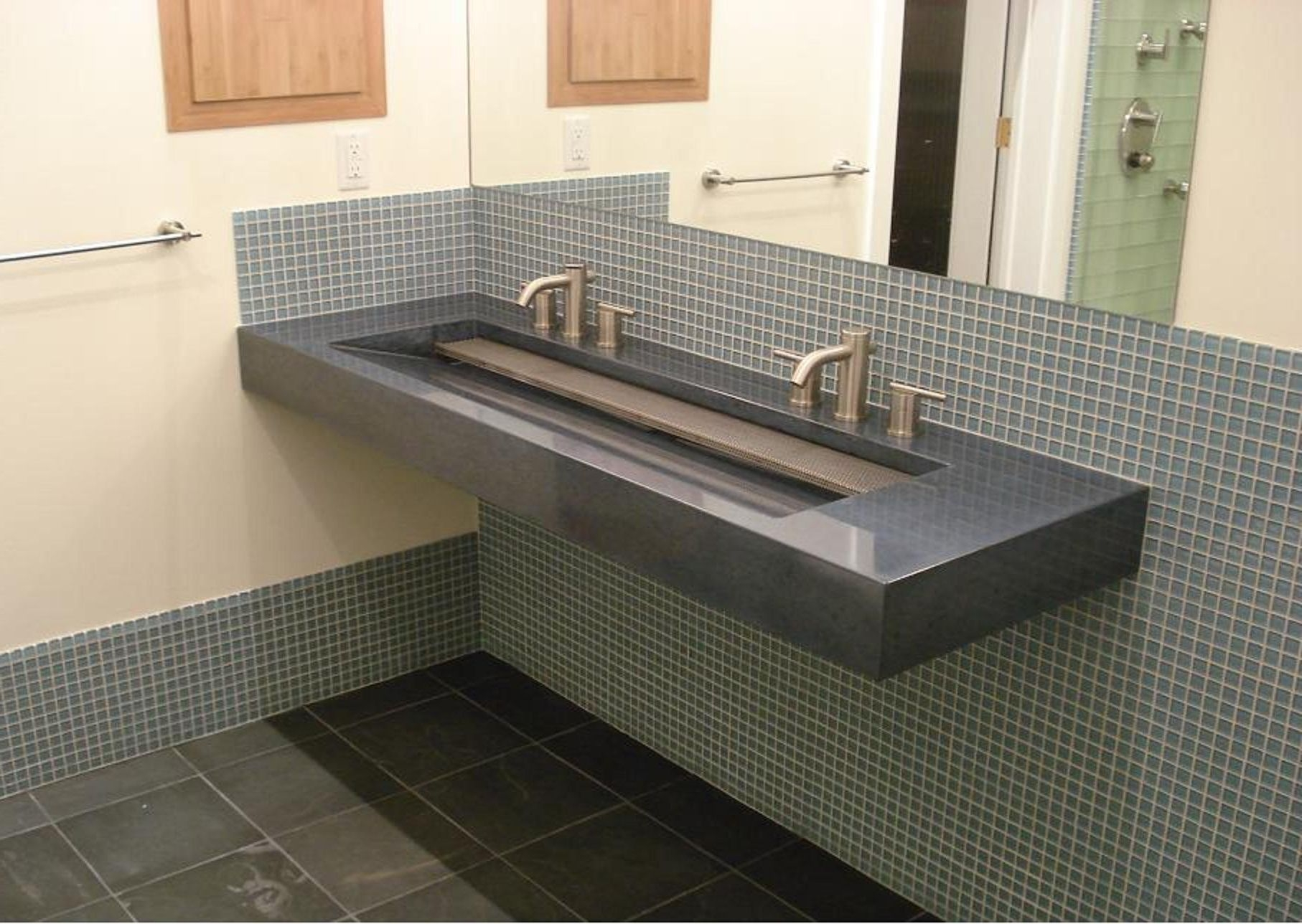 Ideas, double faucet trough sink vanity double faucet trough sink vanity bathroom fabulous trough sink for bathroom and kitchen 1814 x 1288  .