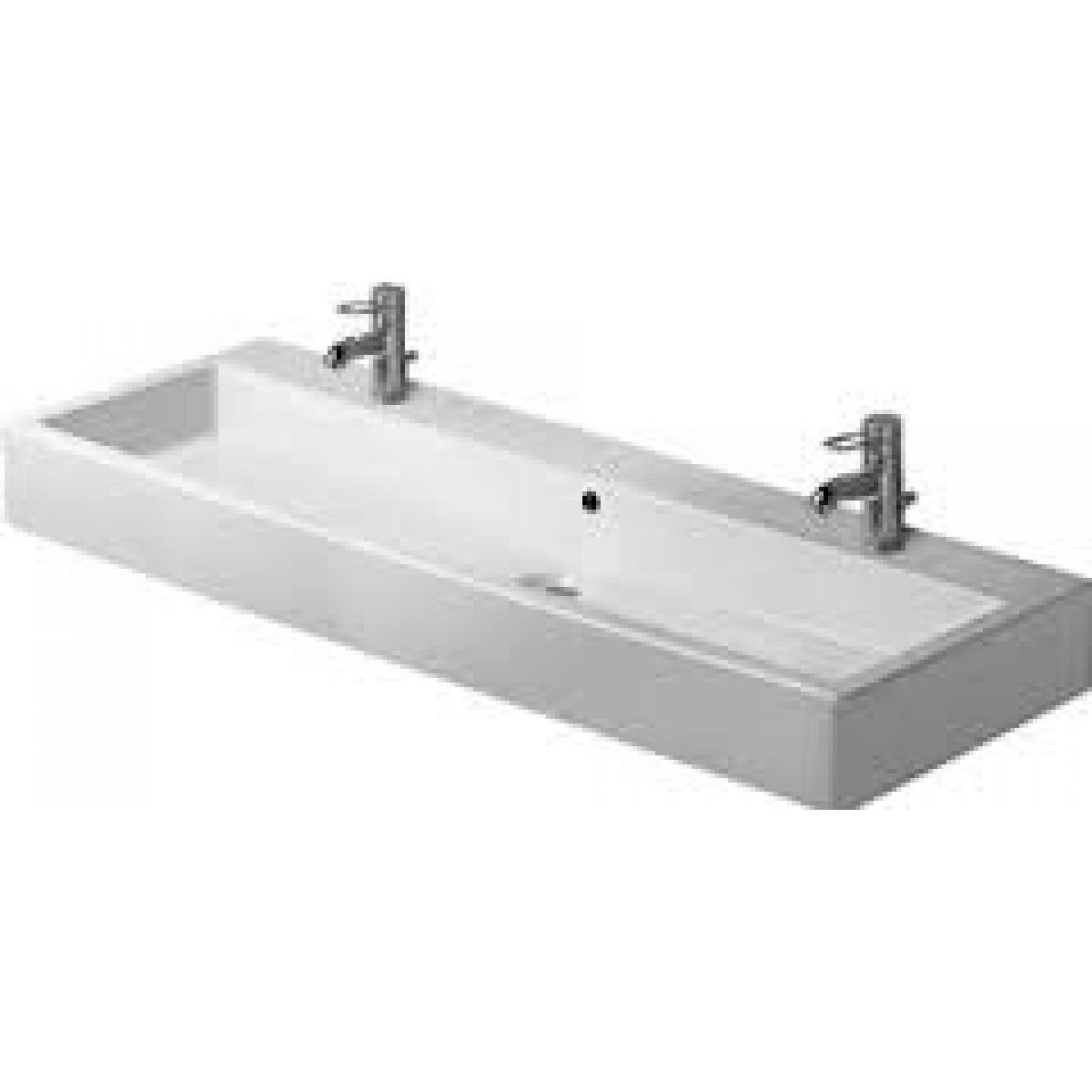 Ideas, duravit vero double faucet sink duravit vero double faucet sink discobath duravit 045412 vero 47 14 x 18 12 inch wide lavatory 1200 x 1200  .