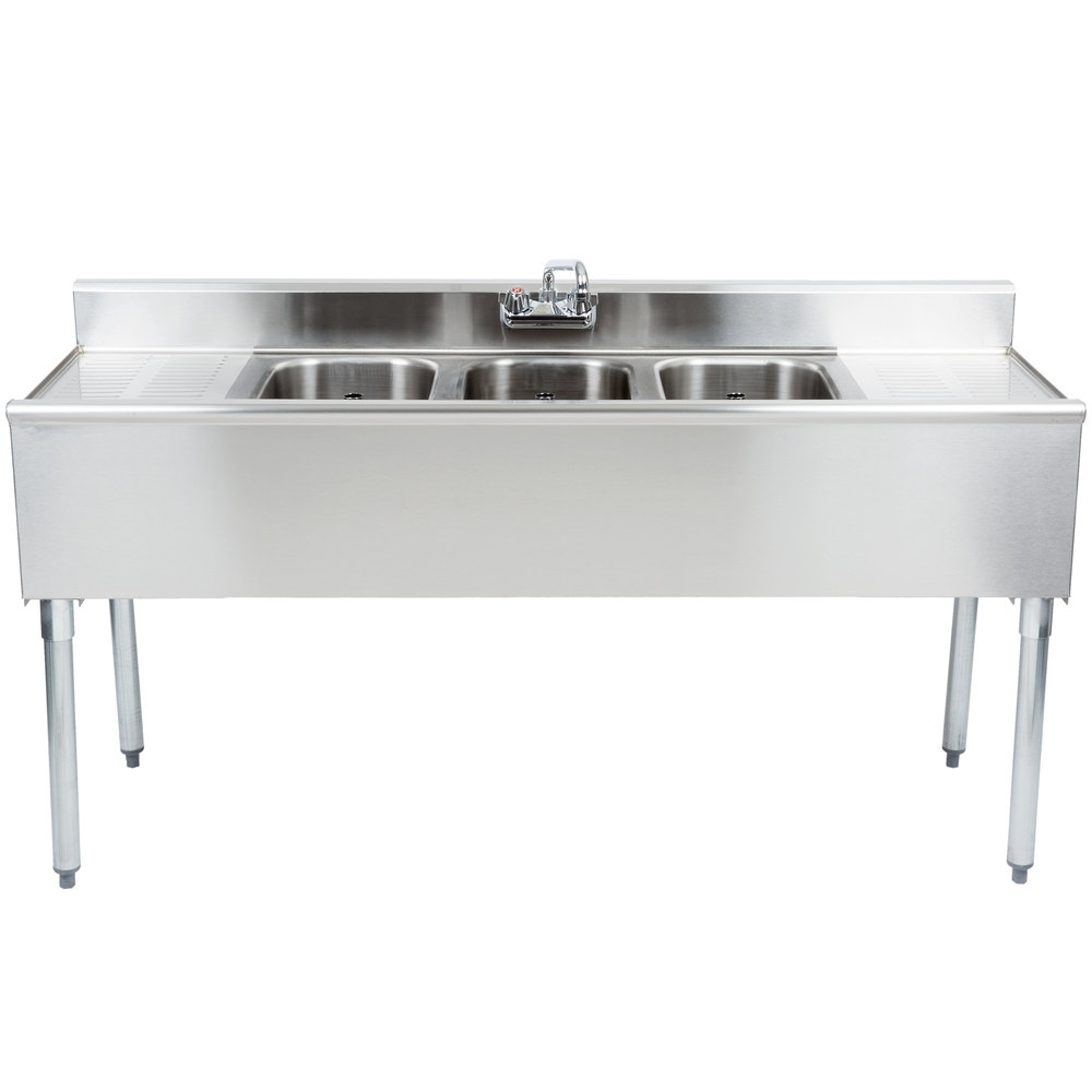 Ideas, eagle group b5c 18 3 bowl under bar sink with two 13 drainboards throughout size 1000 x 1000  .