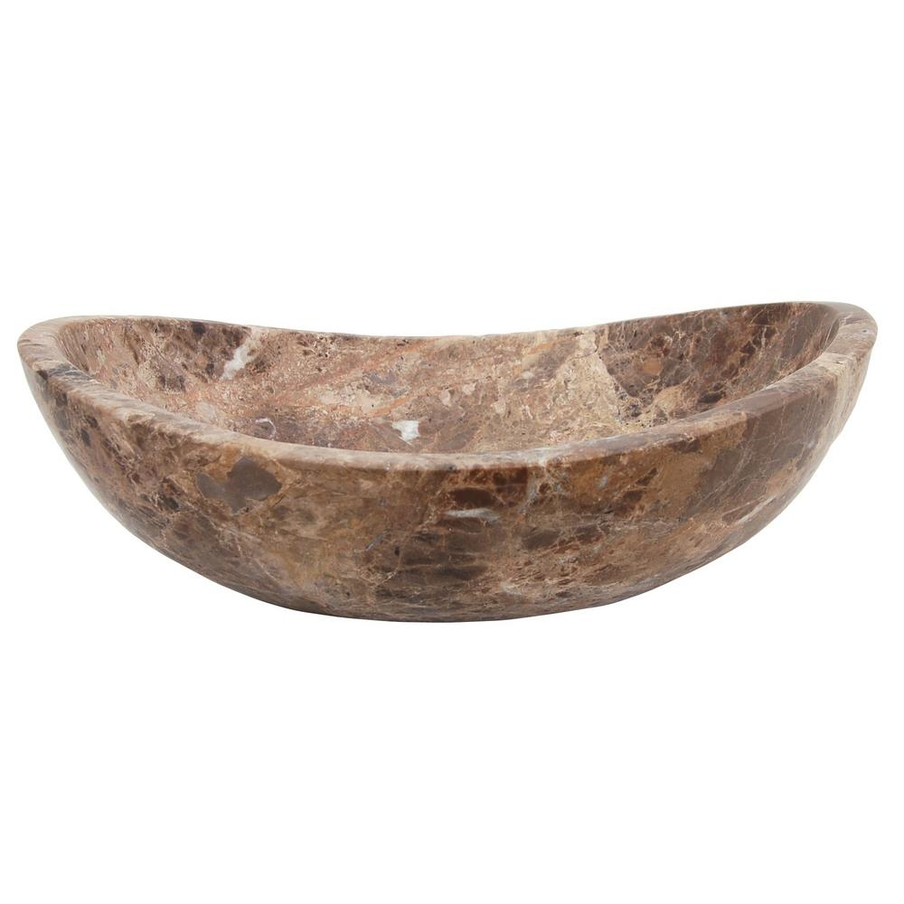 Ideas, eden bath stone canoe vessel sink in honed dark emperador marble in size 1000 x 1000  .