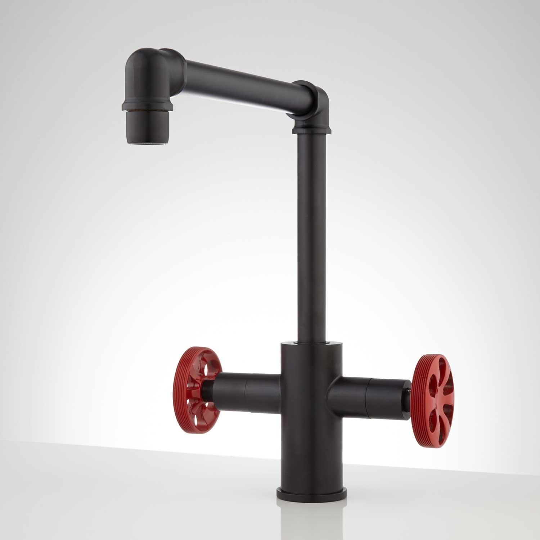 Ideas, edison single hole dual handle kitchen faucet kitchen throughout proportions 1500 x 1500 1  .