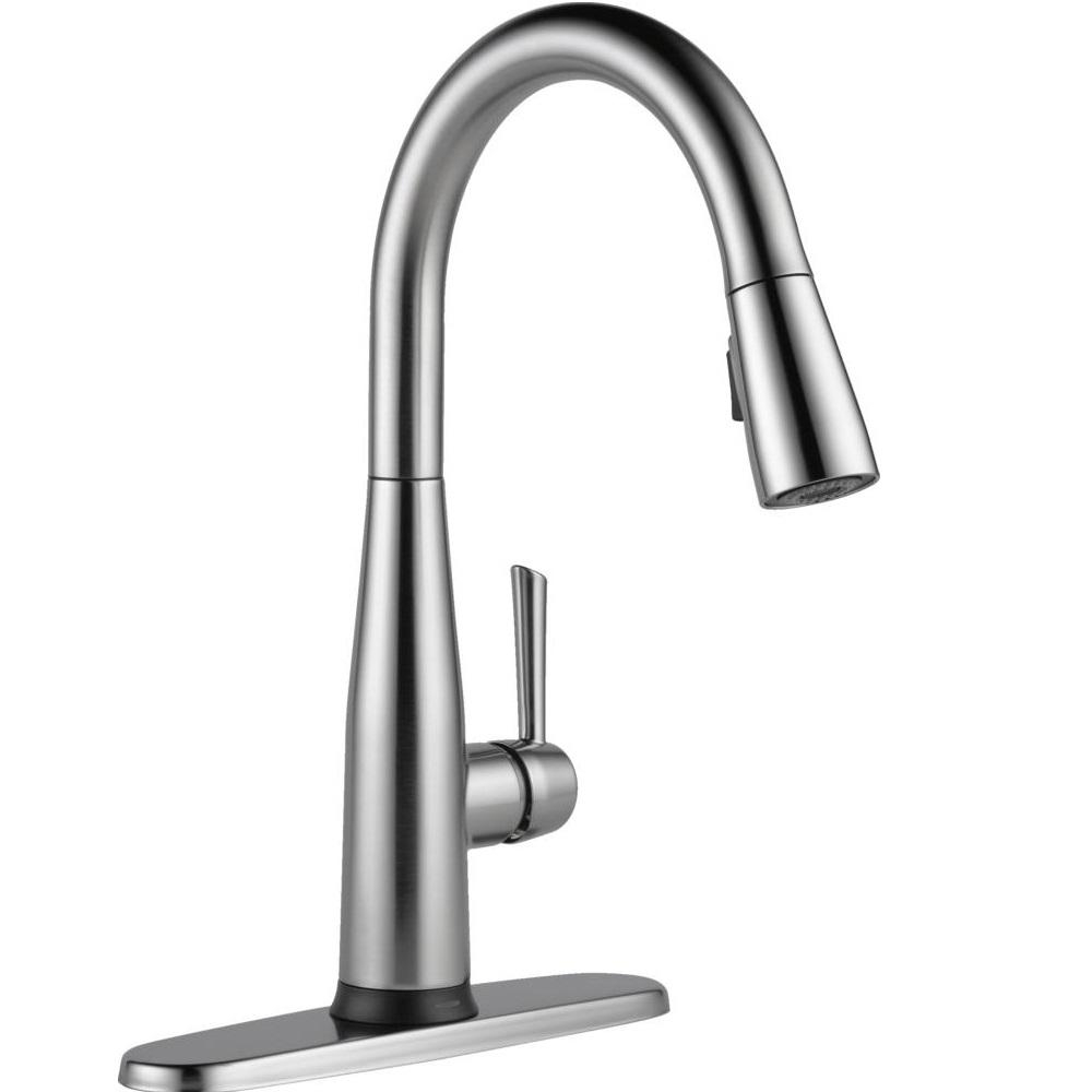 Ideas, electronic touch kitchen faucets electronic touch kitchen faucets delta essa touch2o technology single handle pull down sprayer 1000 x 1000  .