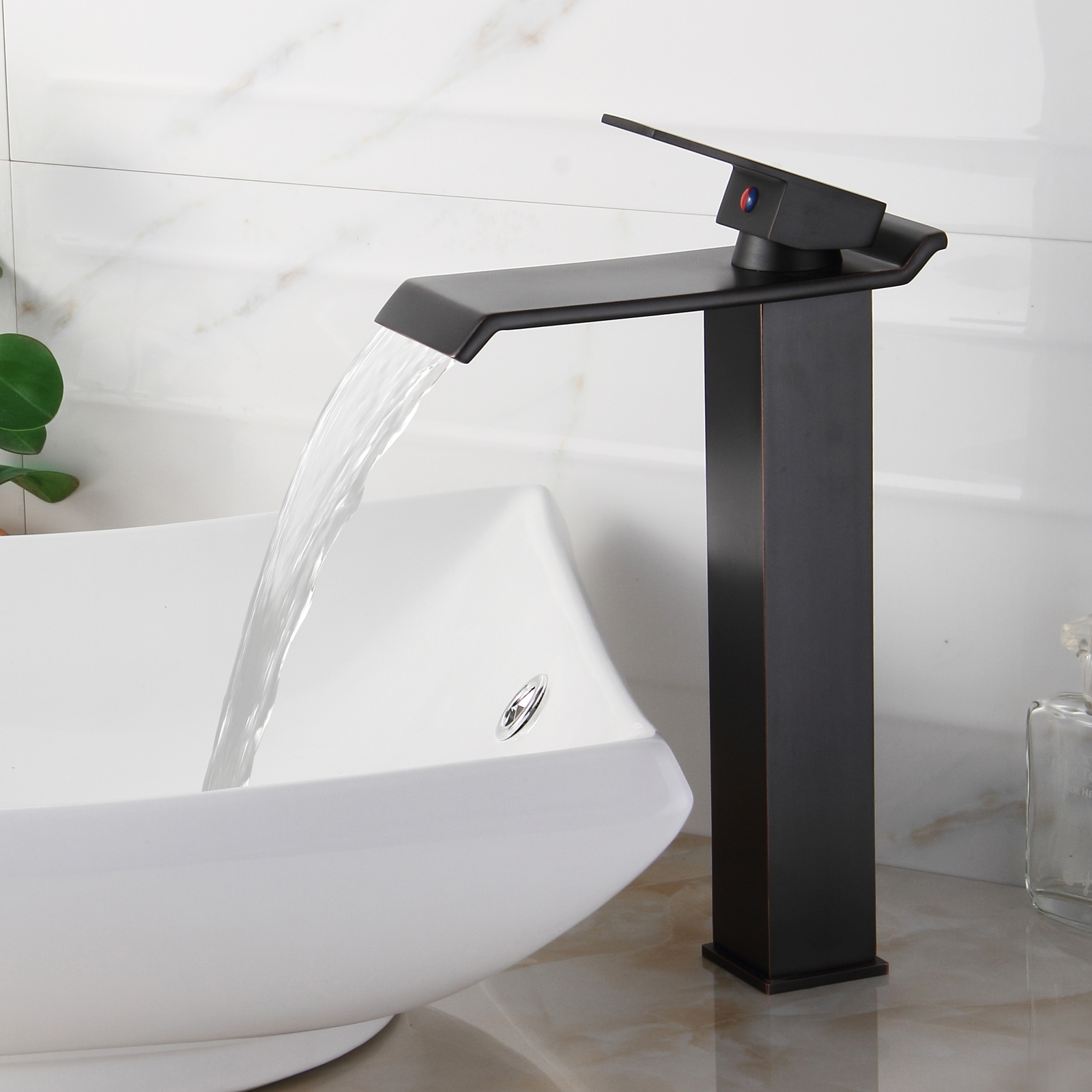 Ideas, elite 8818orb oil rubbed bronze waterfall vessel sink faucet throughout proportions 1600 x 1600  .