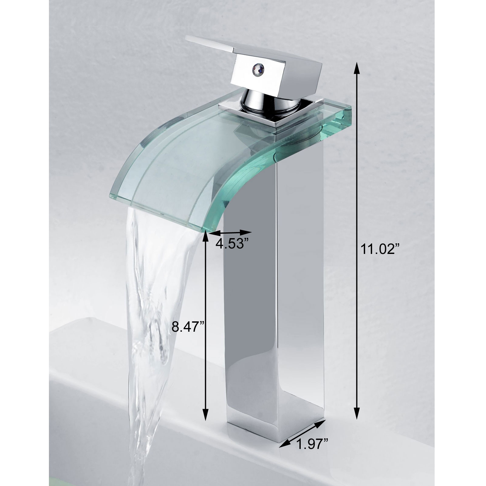 Ideas, elite 8866c new style led light water faucet tap 3 color chrome within proportions 1600 x 1600  .