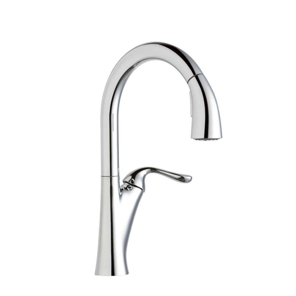 Ideas, elkay harmony single handle pull down sprayer kitchen faucet in within size 1000 x 1000  .