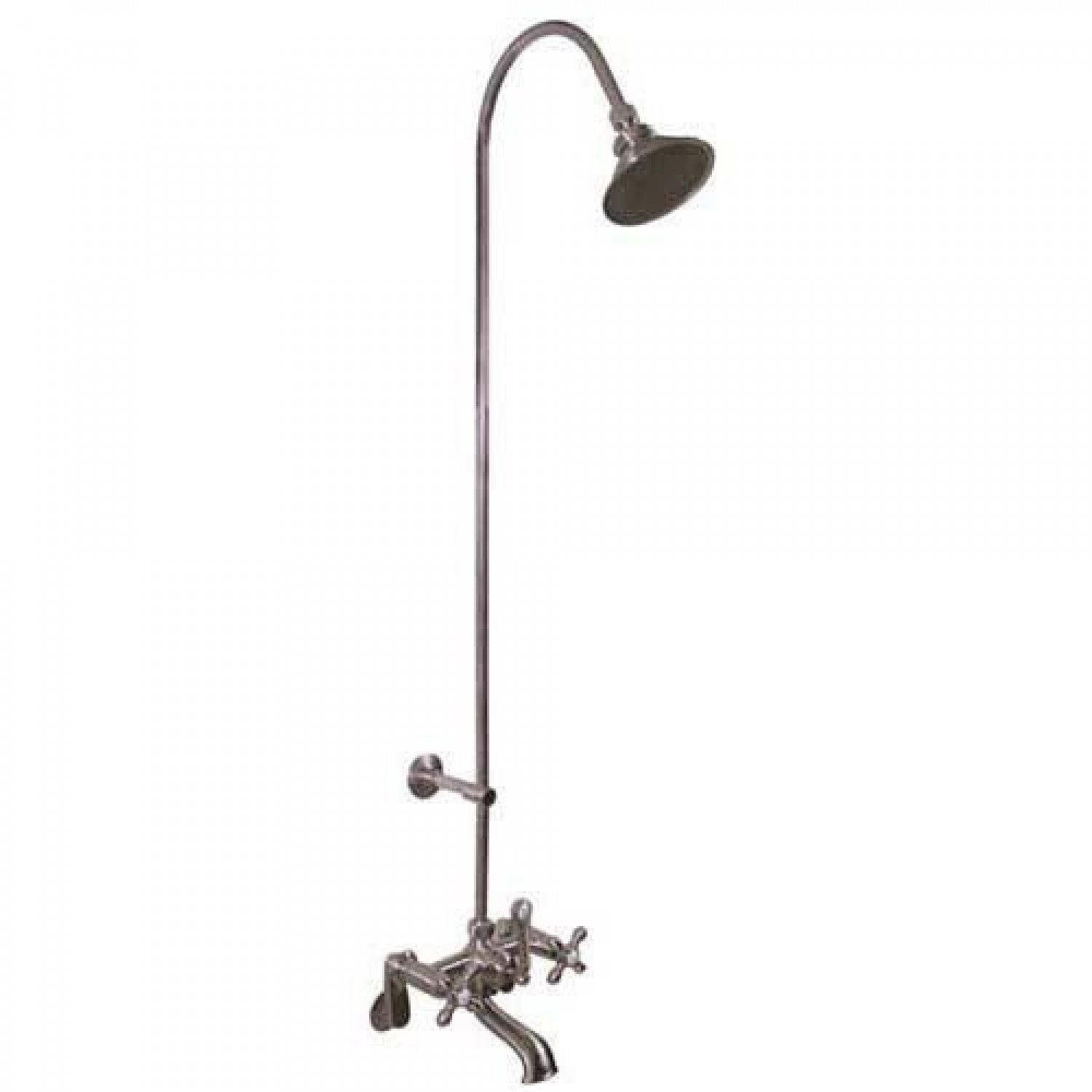 Ideas, exposed pipe shower tub faucet with watering can shower head throughout dimensions 1500 x 1500  .