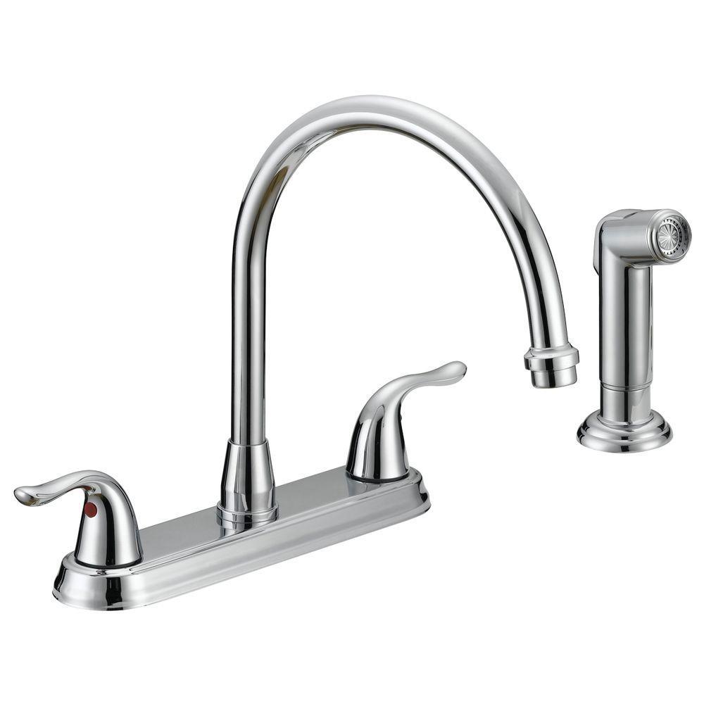 Ideas, ez flo impression collection 2 handle standard kitchen faucet with regarding proportions 1000 x 1000  .