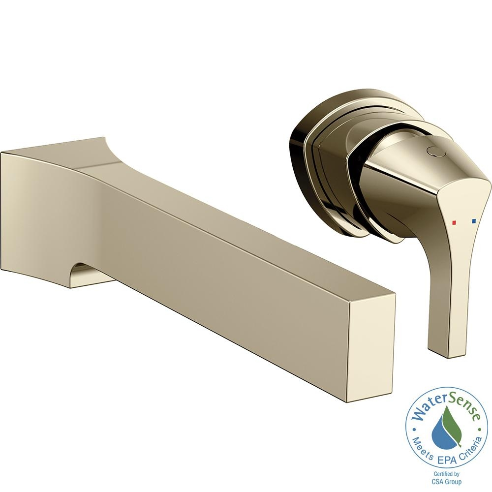 Ideas, falling water wall mount 1 handle bathroom faucet trim kit in inside proportions 1000 x 1000  .