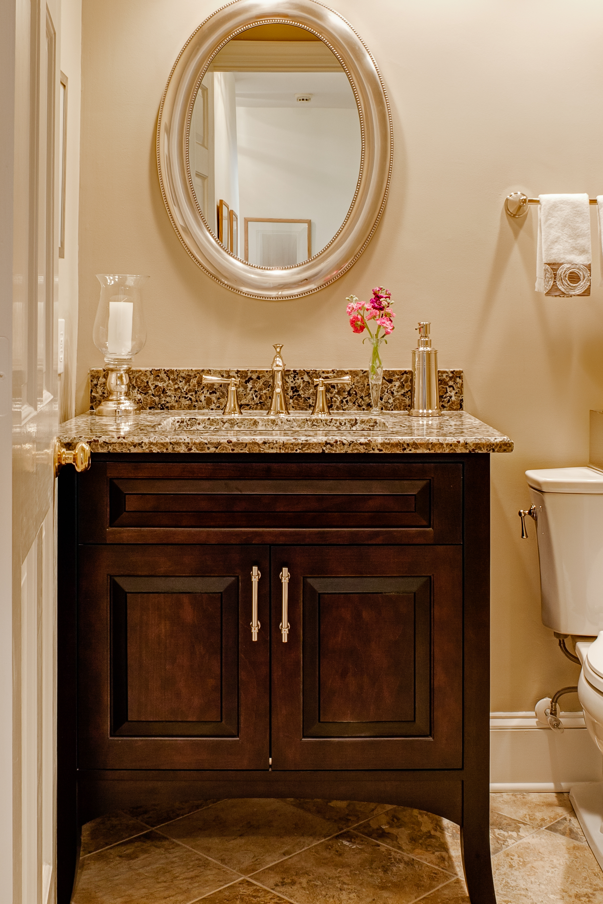 Ideas, fancy bathroom mirrors vanity powder room 48 for your with pertaining to dimensions 2309 x 3463  .