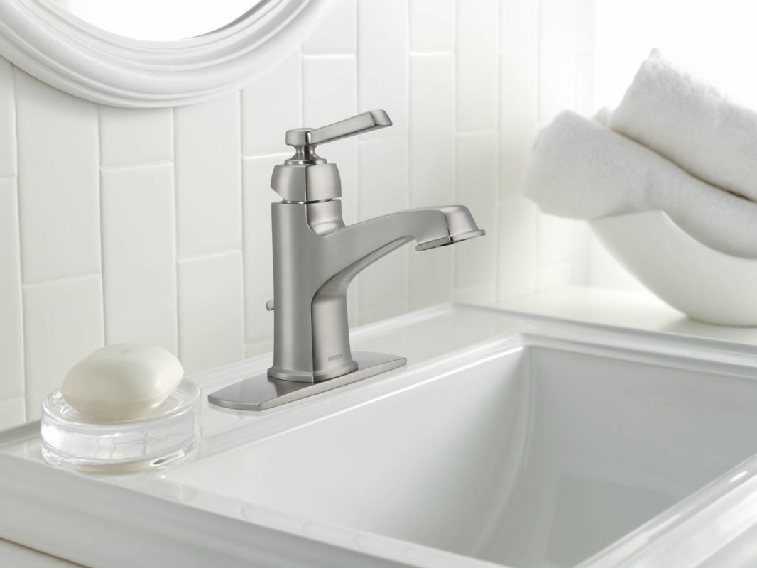 Ideas, faucet 84805srn in spot resist brushed nickel moen intended for proportions 1066 x 800  .