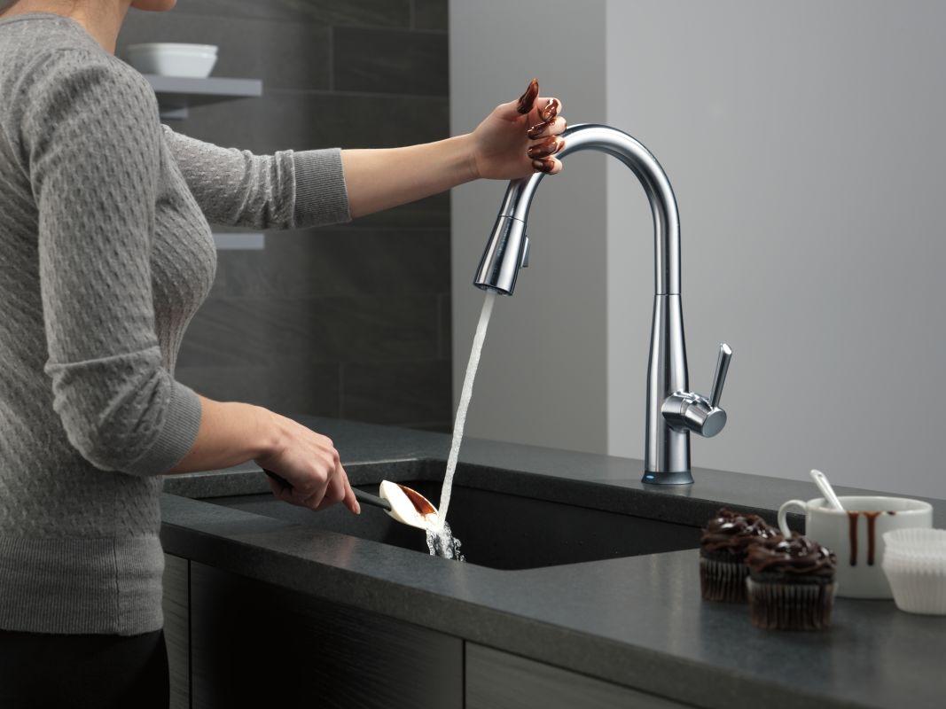 Ideas, faucet 9113t bl dst in matte black delta with measurements 1067 x 800  .
