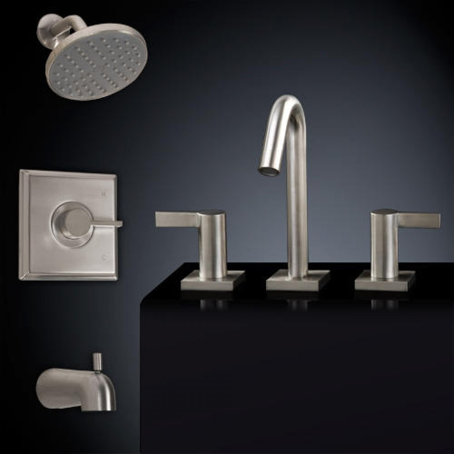 Ideas, flair tub shower set 2 with widespread sink faucet bathroom with regard to sizing 1500 x 1500  .