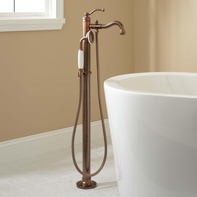 Ideas, floor mount freestanding tub fillers signature hardware within measurements 1500 x 1500  .