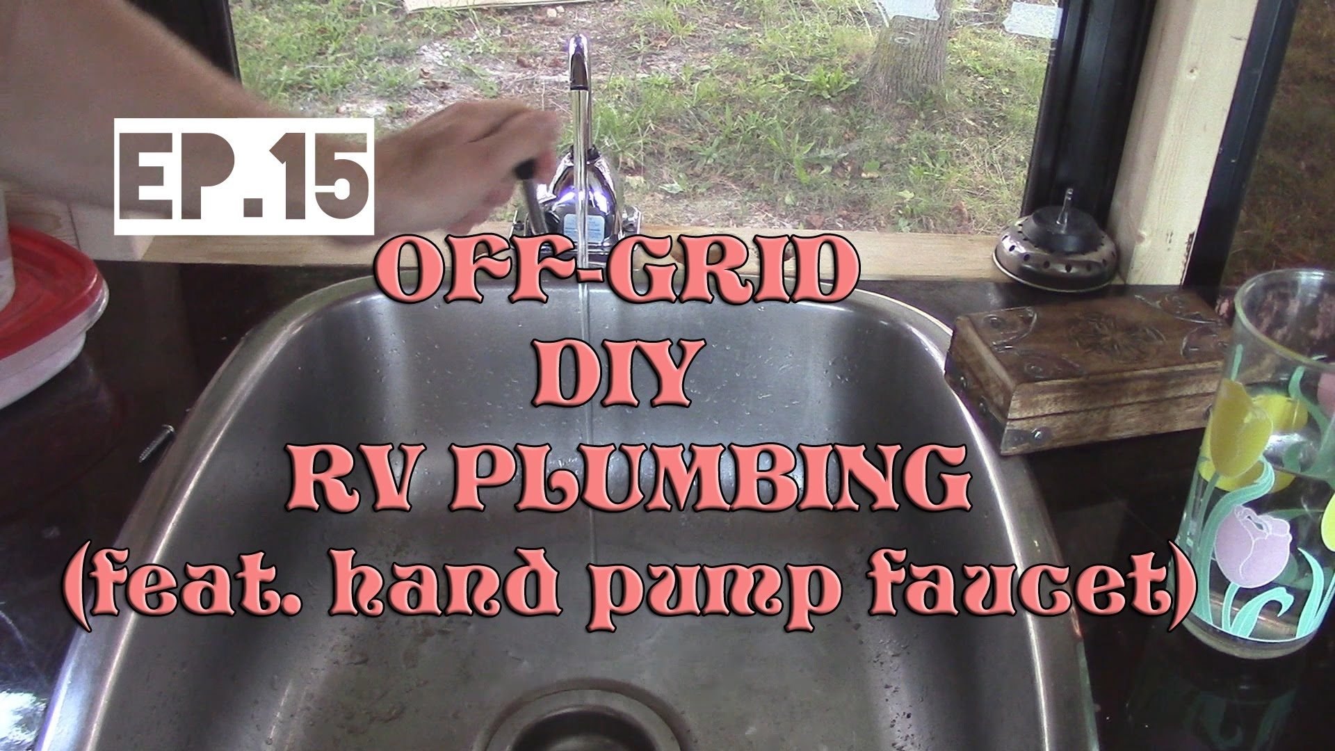 Ideas, foot pump rv faucet foot pump rv faucet full time rv ep15 off grid plumbing with hand pump faucet and 1920 x 1080  .