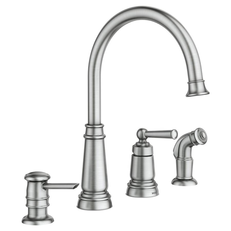Ideas, four hole kitchen faucets sinks and faucets decoration intended for dimensions 900 x 900  .