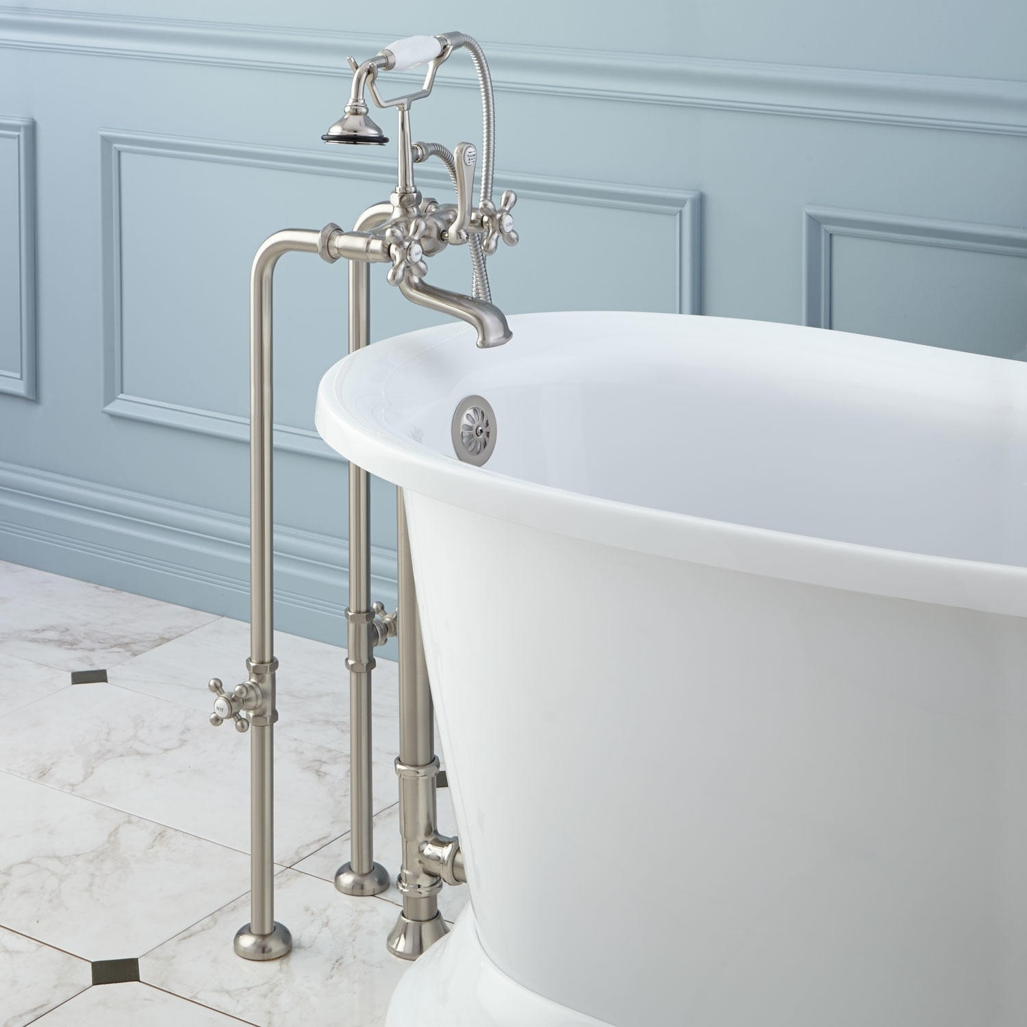 freestanding telephone tub faucet supplies valves and drain throughout dimensions 1500 x 1500