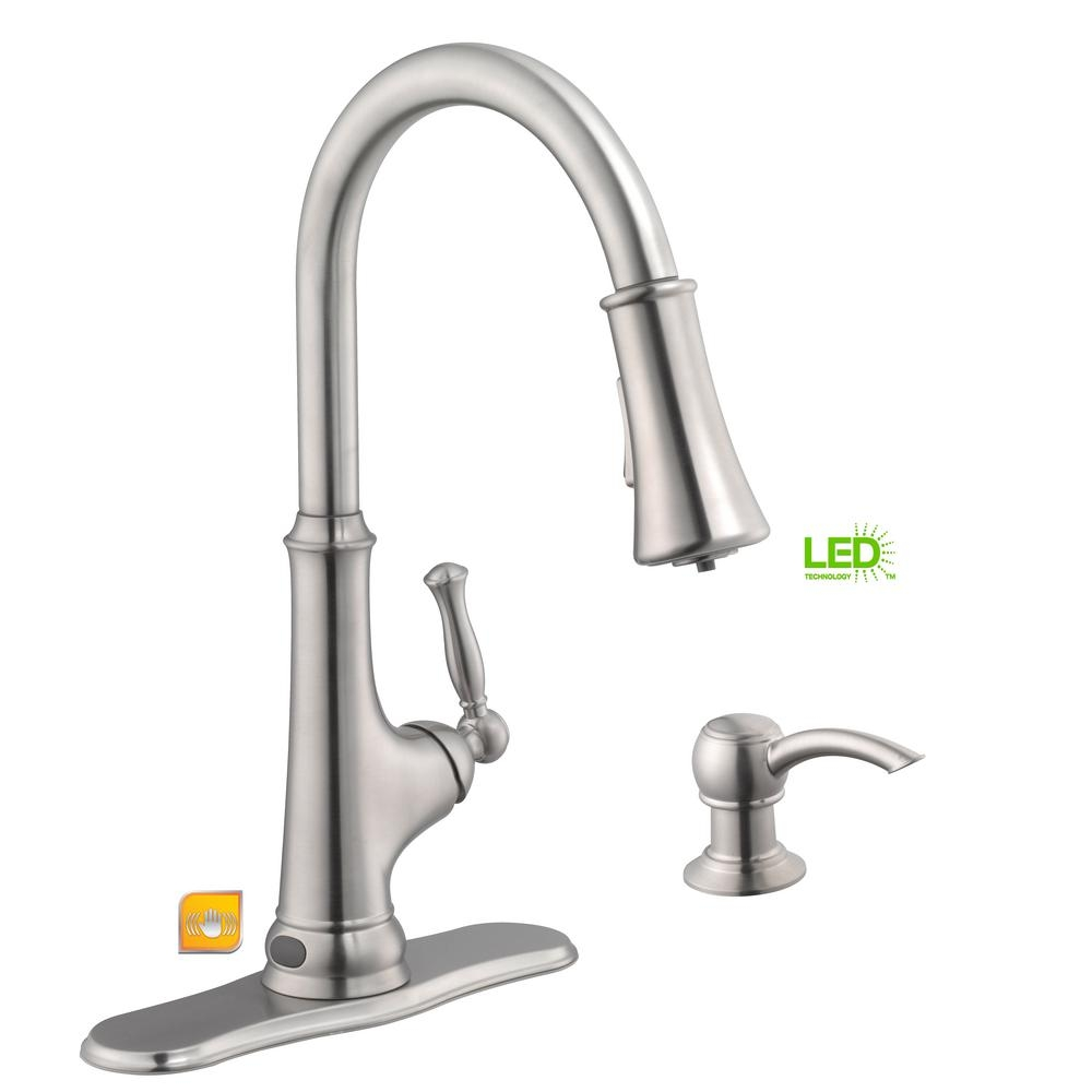 Ideas, glacier bay touchless single handle pull down sprayer kitchen for dimensions 1000 x 1000  .