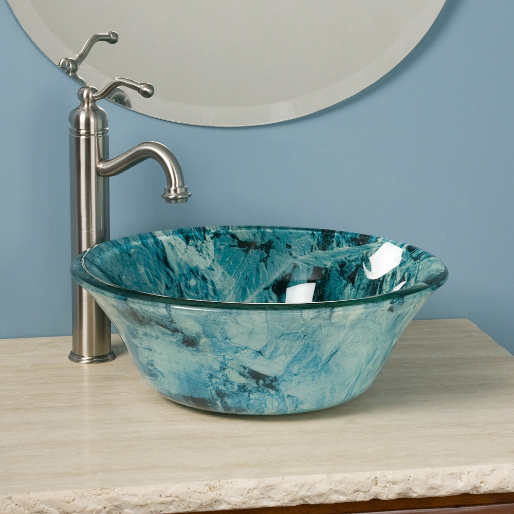 Ideas, glass bathroom vessel sink signature hardware within proportions 1000 x 1000  .