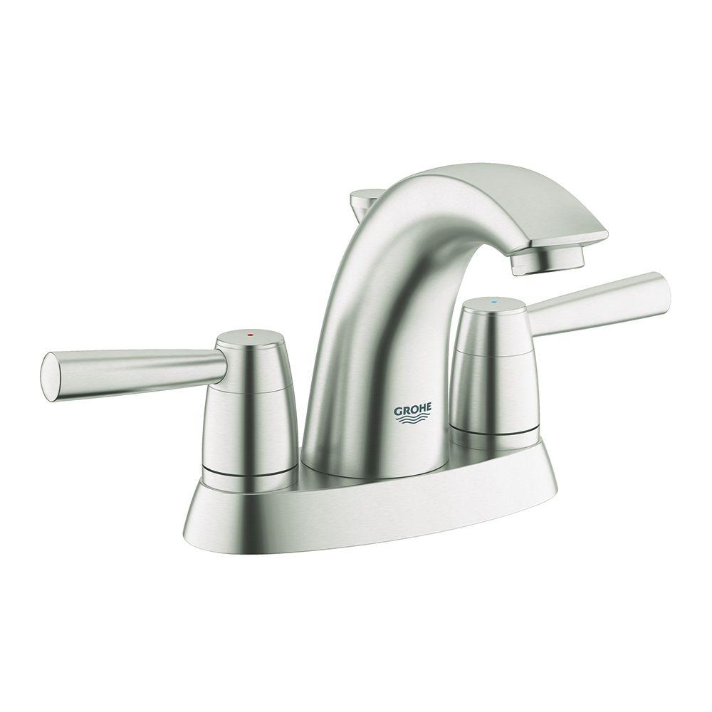 Ideas, grohe arden 4 in centerset 2 handle bathroom faucet in brushed throughout size 1000 x 1000  .