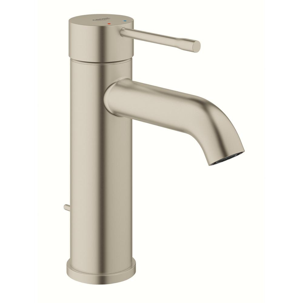 grohe bathroom sink faucets brushed nickel grohe bathroom sink faucets brushed nickel grohe essence new single hole single handle 12 gpm mid arc 1000 x 1000