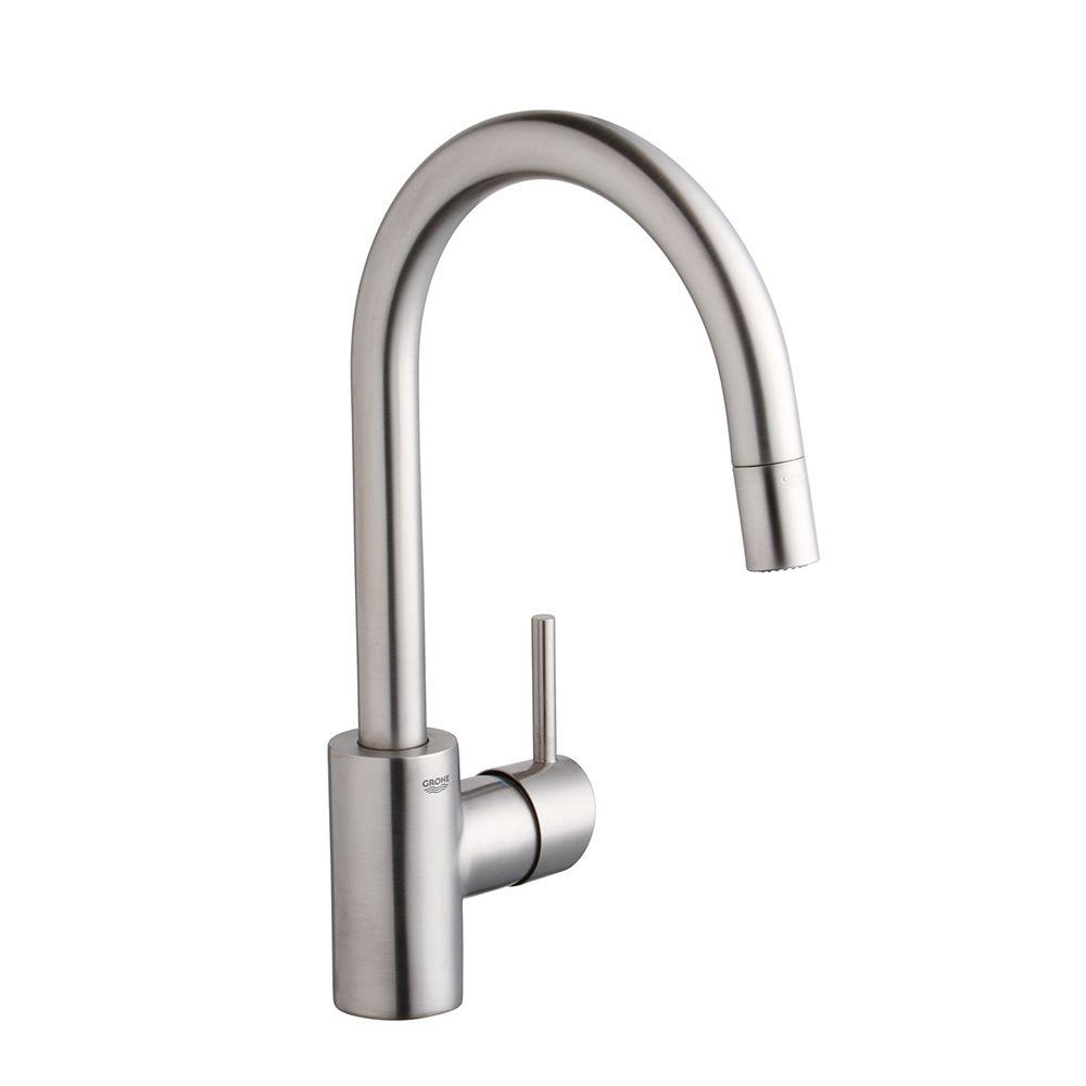 Ideas, grohe concetto single handle pull down sprayer kitchen faucet with inside sizing 1000 x 1000  .