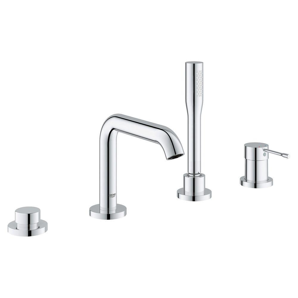 Ideas, grohe essence new single handle deck mount roman tub faucet with for sizing 1000 x 1000  .