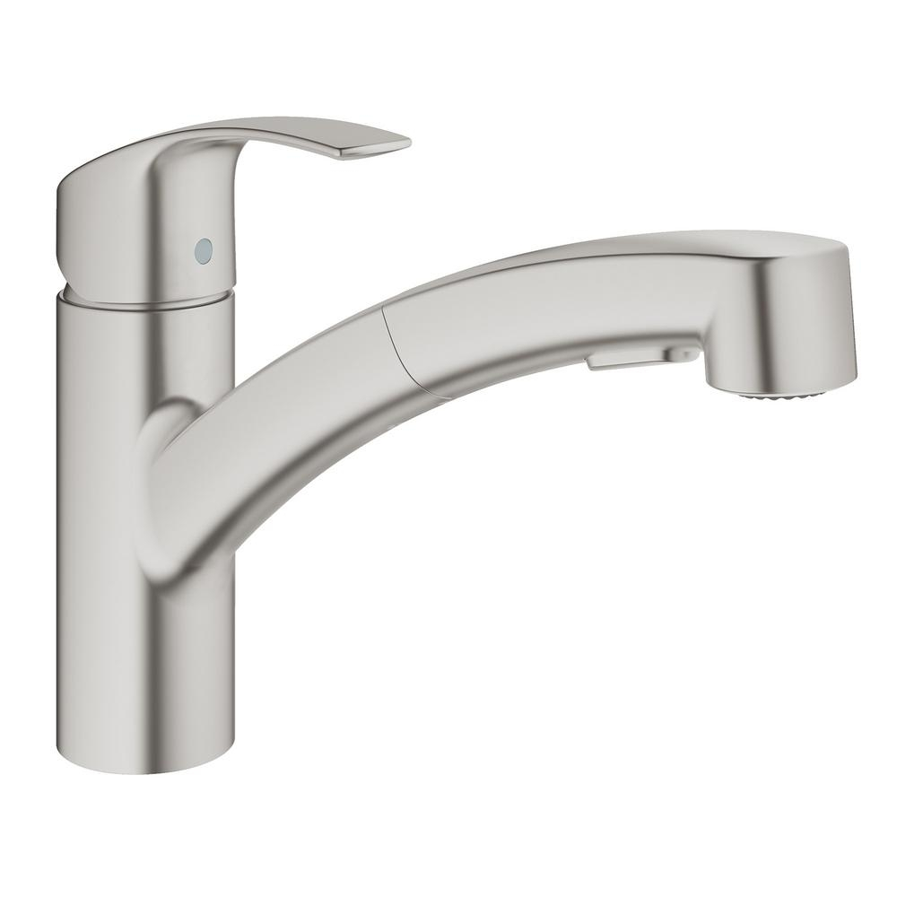 Ideas, grohe eurosmart kitchen faucet grohe eurosmart kitchen faucet grohe eurosmart single handle pull out sprayer kitchen faucet in 1000 x 1000 2  .
