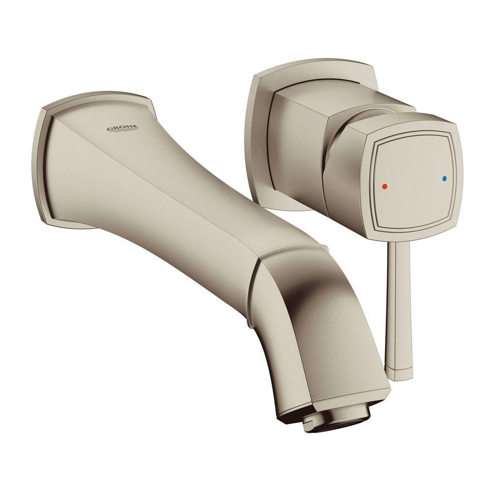 Ideas, grohe grandera single handle wall mount roman tub faucet in for size 1000 x 1000  .