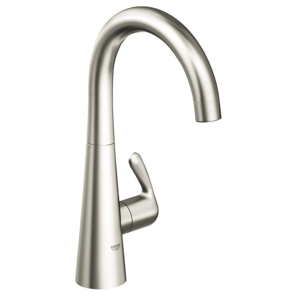 grohe ladylux 3 single handle bar faucet in supersteel infinity regarding measurements 1000 x 1000