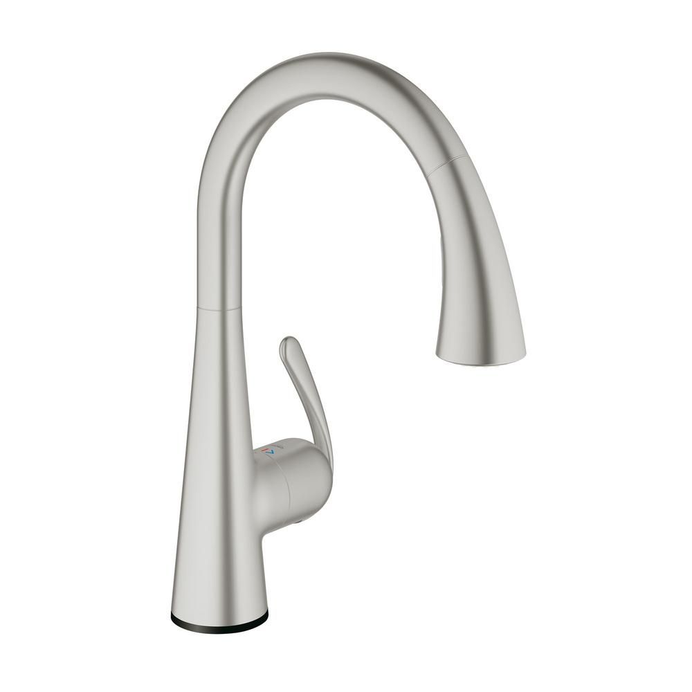 Ideas, grohe ladylux cafe touch single handle pull down sprayer kitchen with regard to measurements 1000 x 1000  .