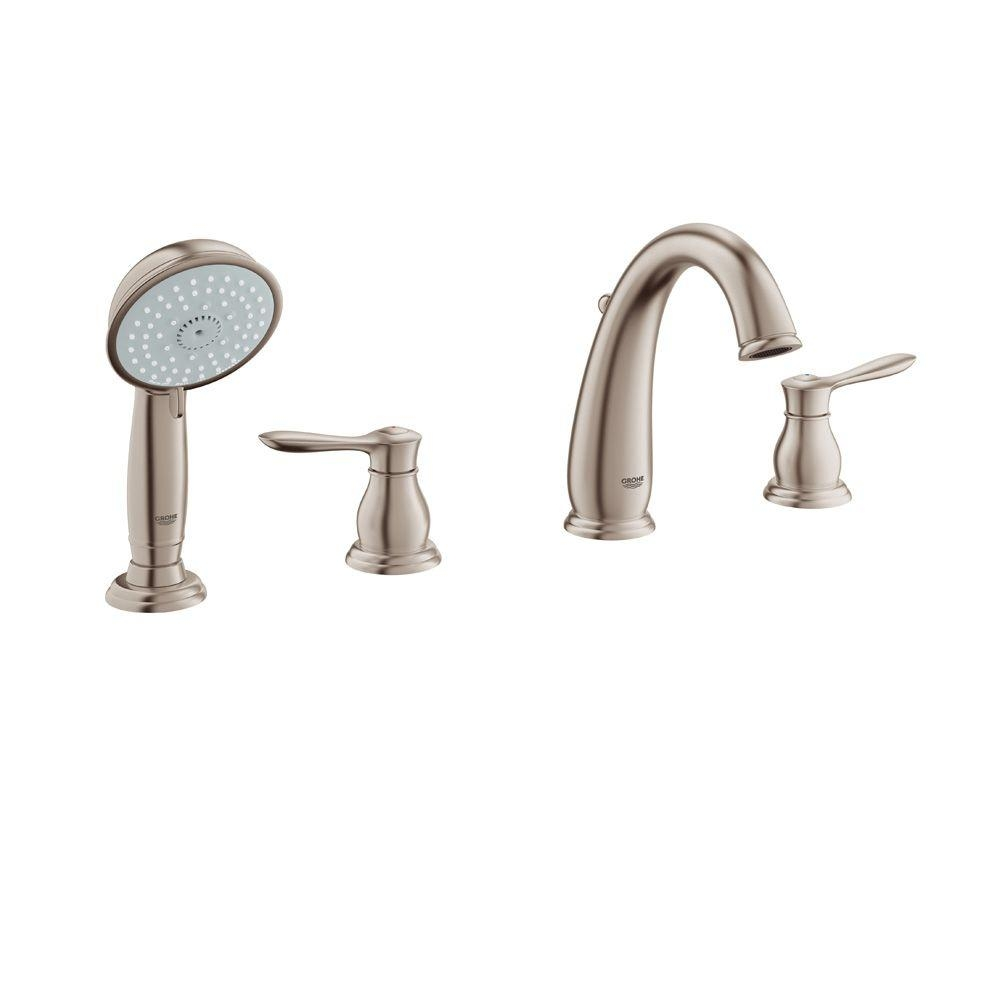 Ideas, grohe parkfield 8 316 in 4 hole 2 handle deck mount roman tub in sizing 1000 x 1000  .