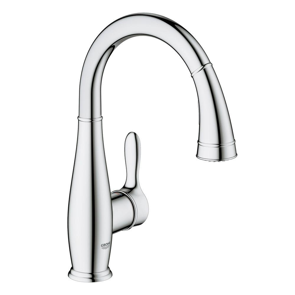 Ideas, grohe parkfield single hole pull out kitchen faucet grohe parkfield single hole pull out kitchen faucet grohe parkfield single handle pull down sprayer kitchen faucet 1000 x 1000 3  .