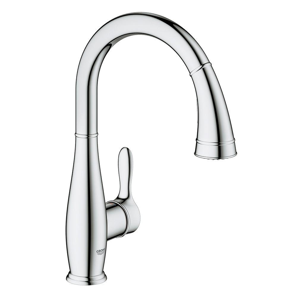 Ideas, grohe parkfield single hole pull out kitchen faucet grohe parkfield single hole pull out kitchen faucet grohe parkfield single handle pull down sprayer kitchen faucet 1000 x 1000 4  .